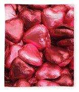 Pink Heart Chocolates I Fleece Blanket