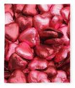Pink Heart Chocolates II Fleece Blanket