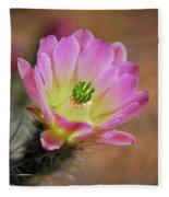 Pink Hedgehog Cactus Fleece Blanket