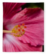 Pink Hibiscus Close-up Fleece Blanket