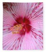 Pink Hibiscus Macro Fleece Blanket