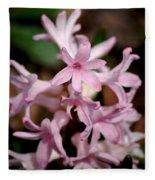 Pink Hyacinth Fleece Blanket