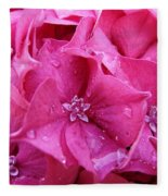 Pink Hydrangea After Rain Fleece Blanket