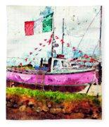 Pink Irish Boat Fleece Blanket