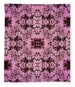 Pink Lace Fleece Blanket