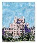 Pink Lady Don Cesar Watercolor Fleece Blanket