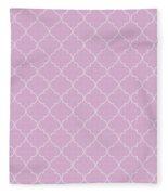 Pink Lavender Quatrefoil Fleece Blanket