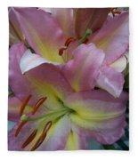Pink Lillies Fleece Blanket