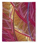 Pink Lines Fleece Blanket
