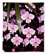 Pink Little Orchids Fleece Blanket
