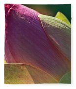 Pink Lotus Bud Fleece Blanket