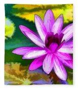Pink Lotus Gallery  Fleece Blanket
