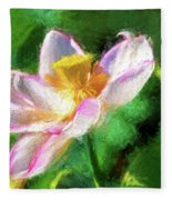 Pink Lotus Fleece Blanket