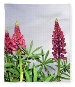 Pink Lupins Fleece Blanket