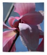 Pink Magnolia Closeup Fleece Blanket