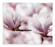 Pink Magnolia Fleece Blanket