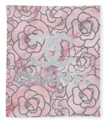 Pink Marble Chanel Fleece Blanket