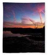 Pink Matter Fleece Blanket