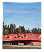 Pink Mountain British Columbia Fleece Blanket