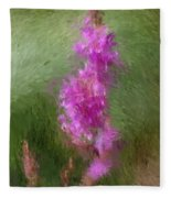 Pink Nature Abstract Fleece Blanket