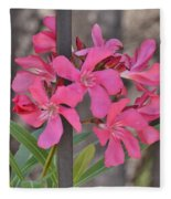 Pink Oleander II Fleece Blanket