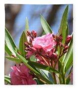 Pink Oleander IIi Fleece Blanket