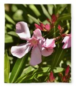 Pink Oleander Iv Fleece Blanket