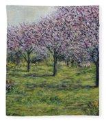 Pink Orchards Garden Fleece Blanket