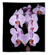 Pink Orchid Iv Fleece Blanket