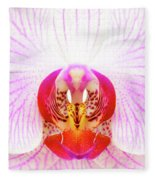 Pink Orchid Fleece Blanket by Dave Bowman