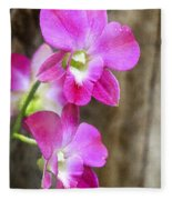 Pink Orchid Duo Fleece Blanket