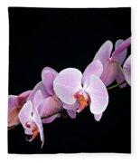 Pink Orchid Viii Fleece Blanket