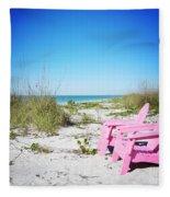 Pink Paradise Vanilla Pop Fleece Blanket