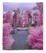 Pink Path To Paradise Fleece Blanket