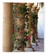 Pink Peacock Colored Bougainvillea Blossoms Climbing Pillars Photograph By Colleen Fleece Blanket