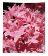 Pink Pentas Beauties Fleece Blanket