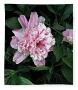 Pink Peone Fleece Blanket