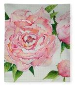 Pink Peonies Fleece Blanket