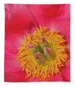 Pink Peony Flower Fine Art  Fleece Blanket