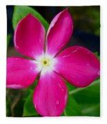 Pink Periwinkle Flower 1 Fleece Blanket