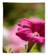 Pink Petunia Fleece Blanket