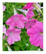 Pink Petunia Flower 11 Fleece Blanket