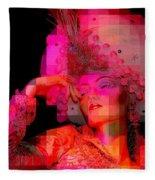 Pink Pixelated Princess Fleece Blanket