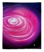 Pink Planet With Diffusing Atmosphere Fleece Blanket