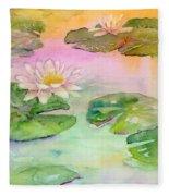 Pink Pond Fleece Blanket