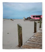 Pink Pony And Boardwalk Fleece Blanket