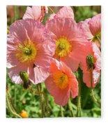 Pink Poppies 2 Fleece Blanket
