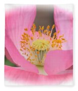 Pink Poppy Serenity Fleece Blanket