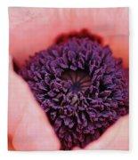 Pink Poppy Soul Fleece Blanket