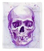 Pink Purple Skull Fleece Blanket